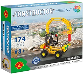 Stemkids Erector Constructor - Hammer (Punch Machine) Model Building Set, 174 Pieces, for Ages 8+, 100% Compatible with All Major Brands Including Meccano, Educational STEM Learning Sets for Kids