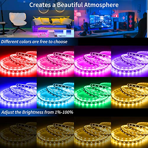 Led Strip Lights 100 Feet, ehomful Color Changing Led Lights for Bedroom,Room and Home Decoration 2