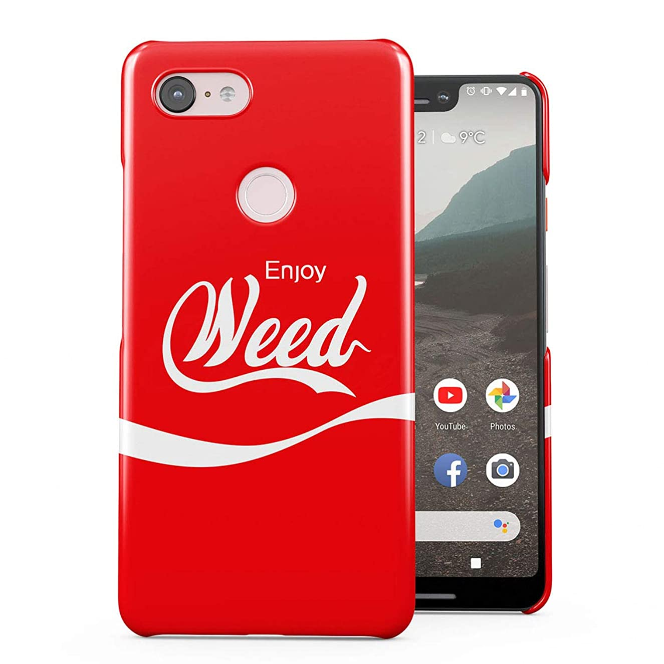 Stoner Quote Enjoy Weed 430 High Mary Jane Plastic Phone Snap On Back Case Cover Shell for Google Pixel 3 XL