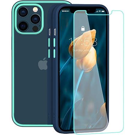 ZELAXY Coque Transparent pour IPhone 12 Pro/iPhone 12 Pro (6,1) – Étui Arrière Clair Rigide Antichoc - Légère avec Bords Silicone - Ne Jaunit Pas PC ...