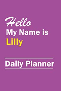 Lilly : Daily Weekly Monthly Calendar Planner : January to December :: 365 Days Daily Timeline Schedule With Blank Lined F...