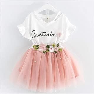 MUSTY Y Girls Clothes T Shirt+Skirt 2pcs Kids Clothes Sport Suit Tracksuit
