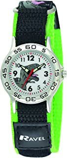 Ravel Boy's Dinosaur Black/Green Adjustable Strap Watch R1507.59