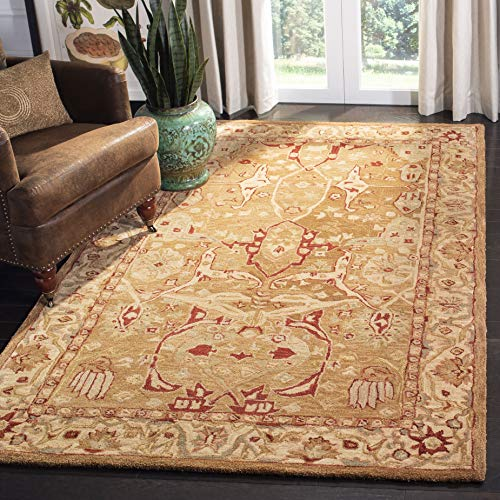 Safavieh Anatolia Collection AN515A Handmade Traditional Oriental Straw and Ivory Wool Area Rug (8' x 10')