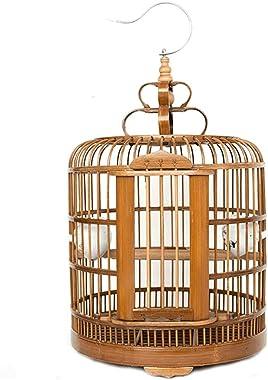 Xuejuanshop Cottages Bird House Bamboo Large Size Bird Cage Thrush Bird and Other Medium-Sized Birds Pet Supplies Bird Villa