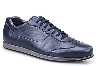 Cabani Bağcıklı Sneaker Erkek Ayakkabı Lacivert Picasso Deri