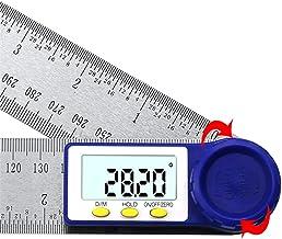 Tratamiento de la madera Regla de sierra 0-200mm Regla Goniómetro inclinómetro digital del ángulo de electrones goniómetro de ángulos Angle Finder 8 '' Digital herramienta de medición de plata Plaza C