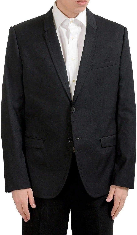 Dolce Gabbana Men's Outlet sale feature Black Large-scale sale Wool Two Blazer US Sport Coat Button