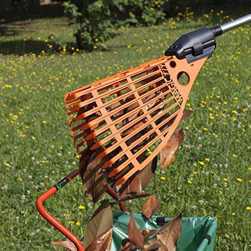 Magic FlyLaubgreifer 2-in-1 | Rechen und Greifzange in einem Gartenwerkzeug | Rückenschonend Laub sammeln | Ideal als Laubschaufel und Müllgreifer