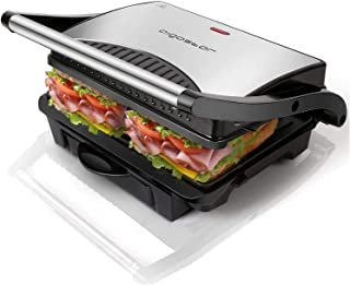 Aigostar Hett 30HHJ - Grill multifonction, plancha, presse à paninis, appareil à sandwichs. 1000W, plaques anti-adhésives,...