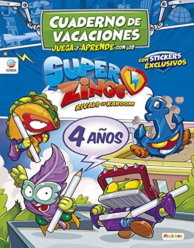 Cuaderno de Vacaciones juega y aprende con los Superzings para 4 años
