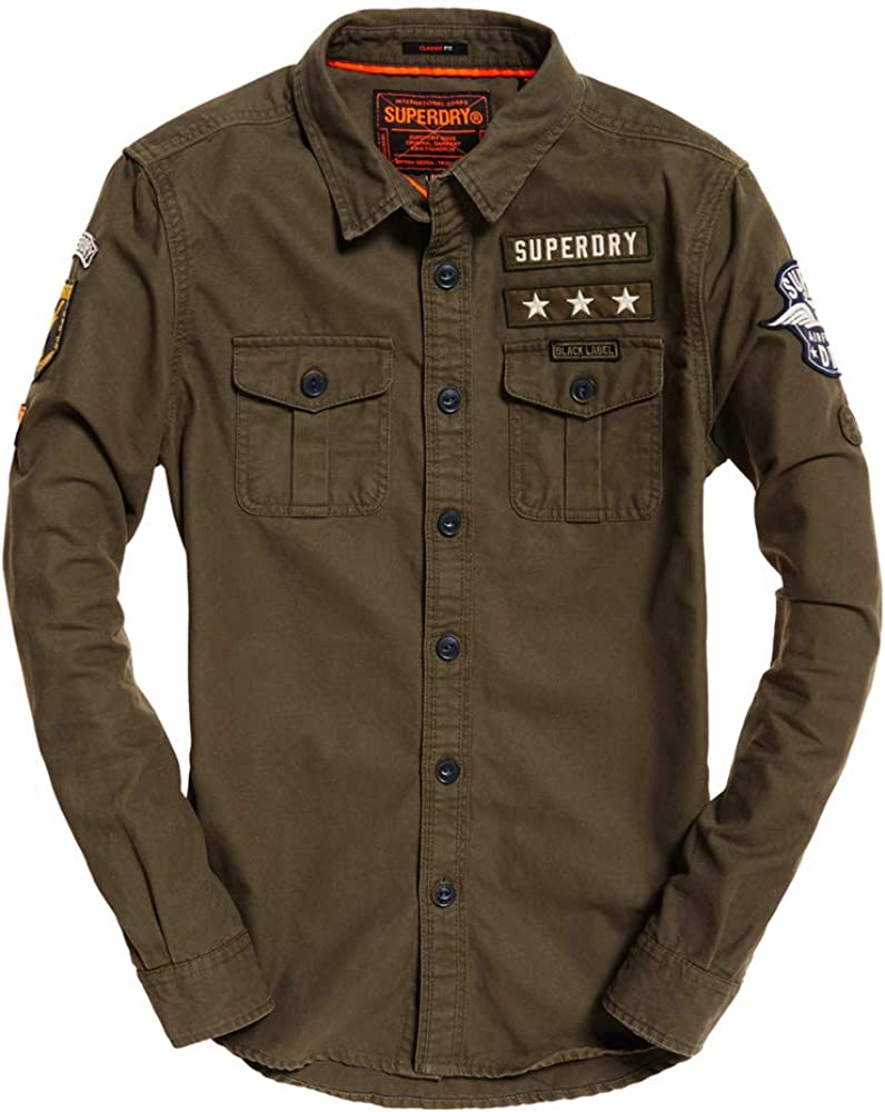 Superdry Military Storm Shirt Camisa Deportiva para Hombre