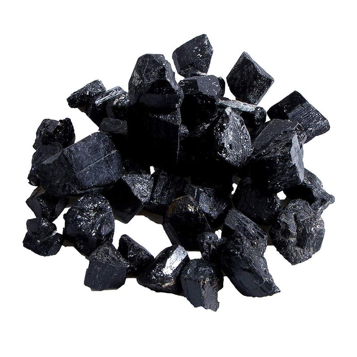 選挙道徳オープニングFuntoget 蒸し部屋用の天然黒トルマリンクリスタルラフストーンロック鉱物標本新しい
