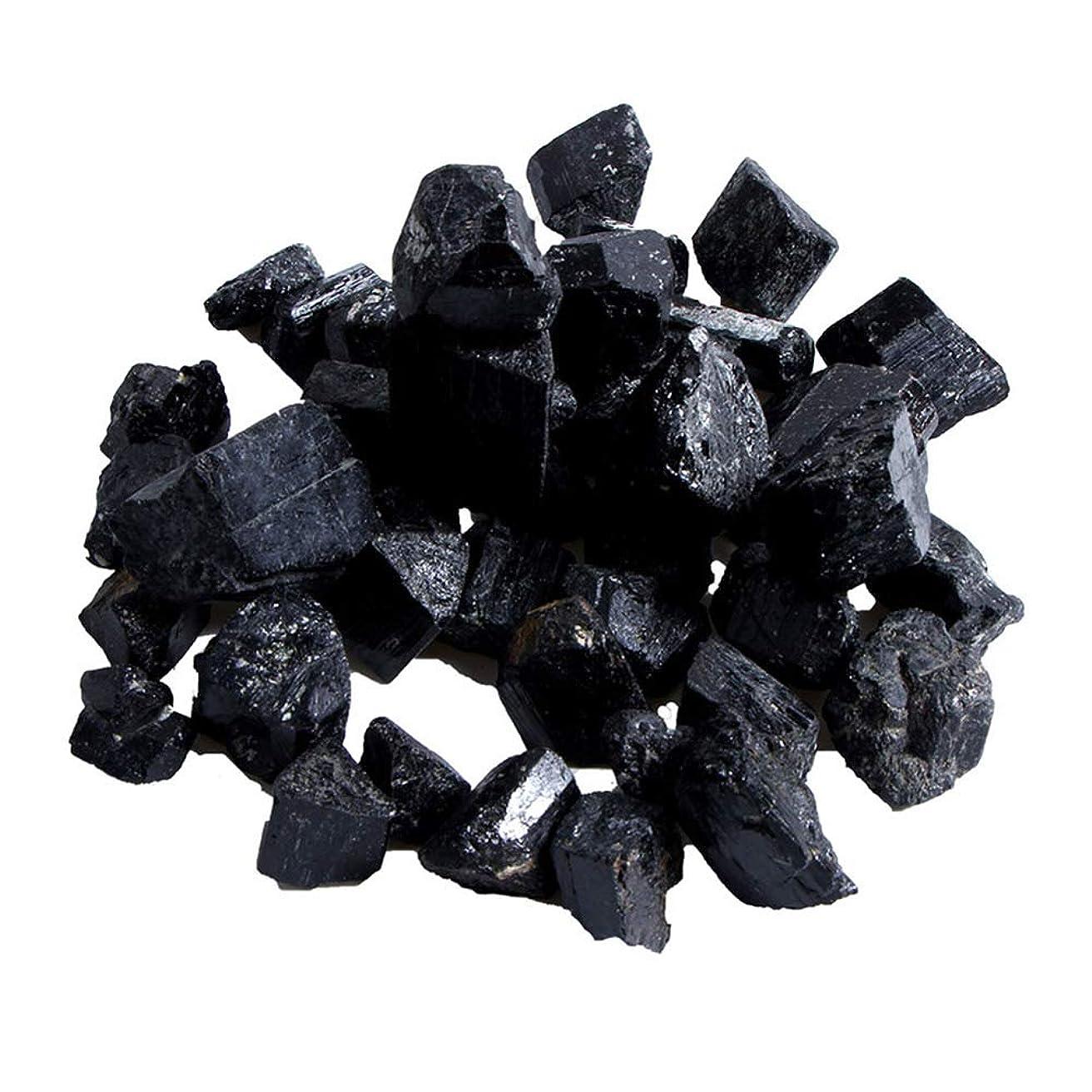 起きろクラッシュ引き金Funtoget 蒸し部屋用の天然黒トルマリンクリスタルラフストーンロック鉱物標本新しい