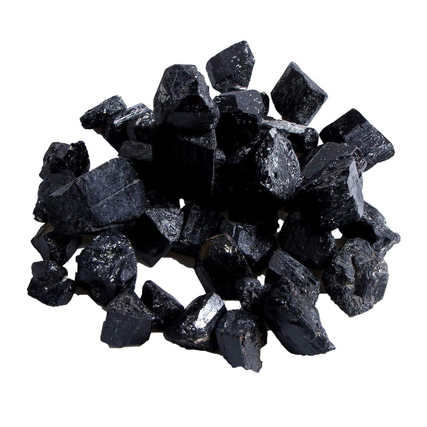 忍耐ゆりかご割り当てTenflyer 蒸し部屋用の天然黒トルマリンクリスタルラフストーンロック鉱物標本新しい