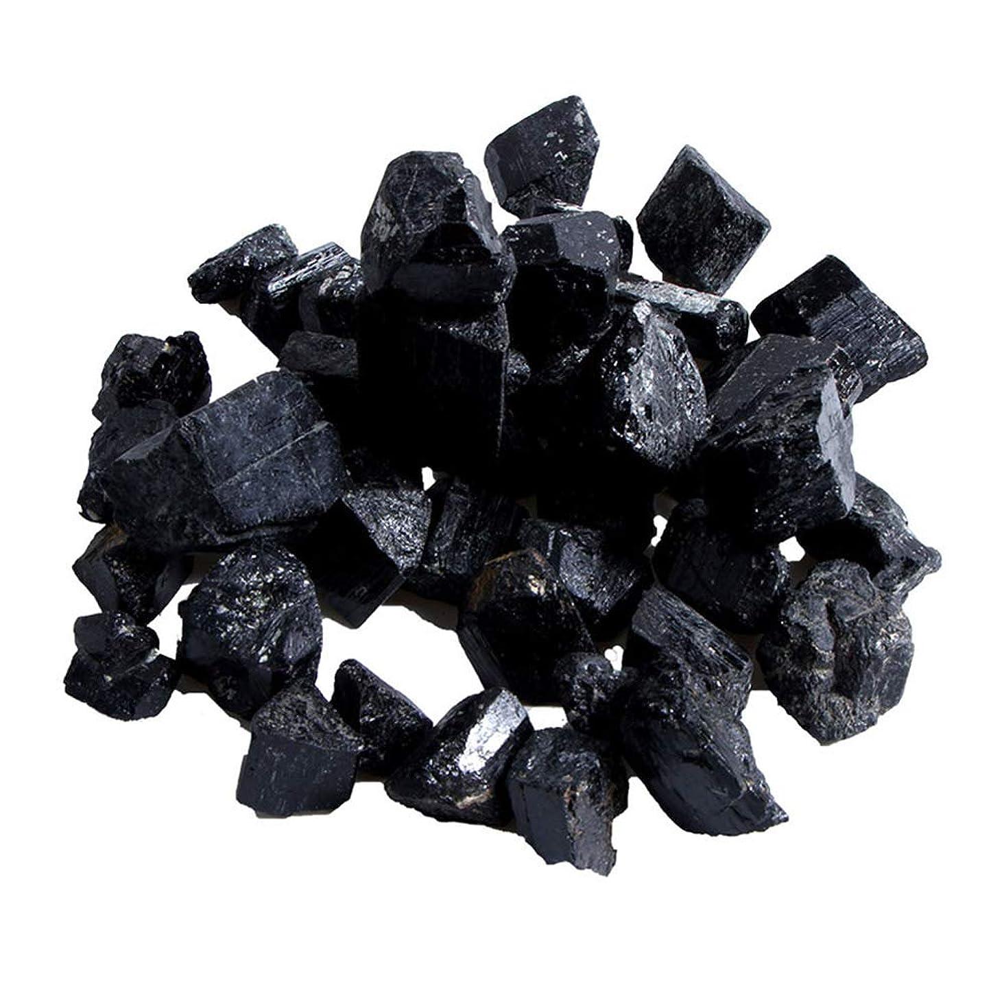 不幸追うトランザクションTenflyer 蒸し部屋用の天然黒トルマリンクリスタルラフストーンロック鉱物標本新しい