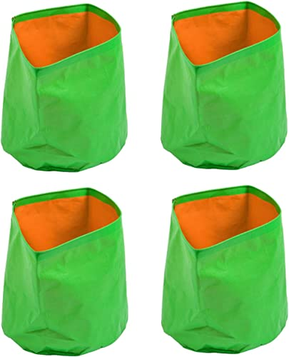 Cocogarden Plastic Green Grow Bags 12X12(Pack of 4)
