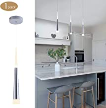 Bewamf Modern Mini Island Pendant Light with Acrylic Shade LED Adjustable Cone Contemporary Pendant Lighting for Kitchen Island Dining Room Living Room Bar 9W Warm White 3000K Aluminum