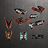 YHYPRESTER ZWFC001-3 Pegatinas de motocicleta 3M personalizadas Pegatinas Gráficos Gráficos Kit de decancia gráfica compatible con K*T*M XCW SXF EXC XCF 125 150 200 250 300 350 450 450 500 2005 2006 2