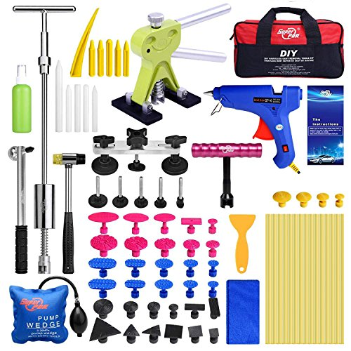 Super PDR 75Pcs PDR Kits Car Auto Body Paintless Dent Removal Repair Tool Dent Lifter Kit Bridge Glue Puller Set
