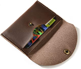 Fuinloth Leather Coin Purse Coin Pouch Small Change Bag Credit Card Wallet Holder for Men/Women