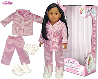 Sophia's 18 inch Doll, Collectible Doll Julia | 18 Inch Dark Brown Doll, Jointed Arms/Legs & Soft Body, Brand 18 in Doll