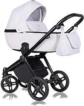 Stroller 3 en 1 juego completo con asiento de coche Isofix baby tub baby carrier Buggy Prado K2 de ChillyKids Arctic Snow 01 Silla de auto 4 en 1 + ISOFIX