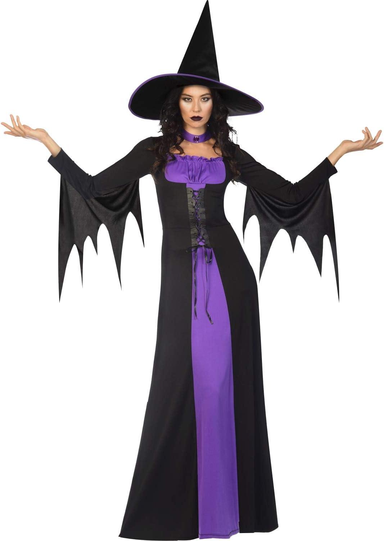 amscan Adults Classic Witch Costume UK Dress 8-10