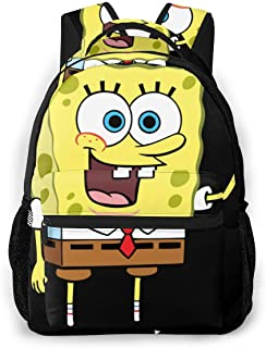 School Backpack, Great for School, Casual Daypack Travel Outdoor Spongebob Squarepants Character Backpacking, Boys and Girls