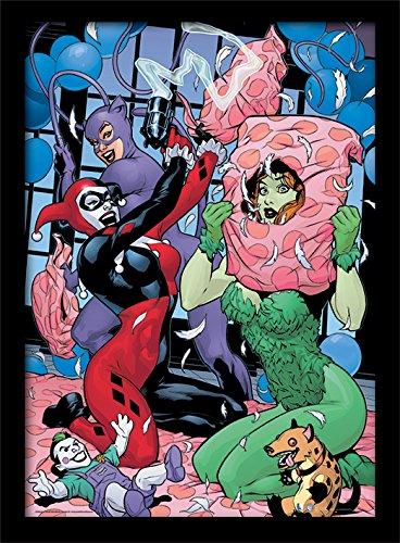 Pyramid International DC Comics (Slumber Party) 30x40 cm gerahmter Druck, 250GSM PAPERWRAP MDF, Mehrfarbig, 44 x 33 x 4 cm