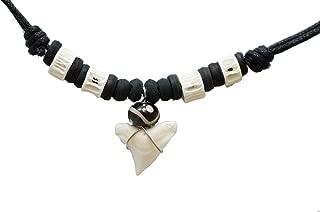 Exoticdream Real Shark Tooth Necklace Surfer Hawaiian Beach Boys Girls Men - White