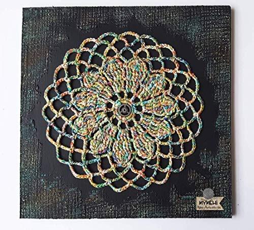 Mandala de pared, diseño exclusivo hecho a mano, pieza única, modelo