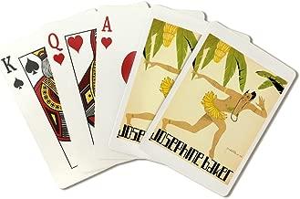Josephine Baker: Banana Dress Vintage Poster (artist: Pietri) France c. 1928 (Playing Card Deck - 52 Card Poker Size with Jokers)
