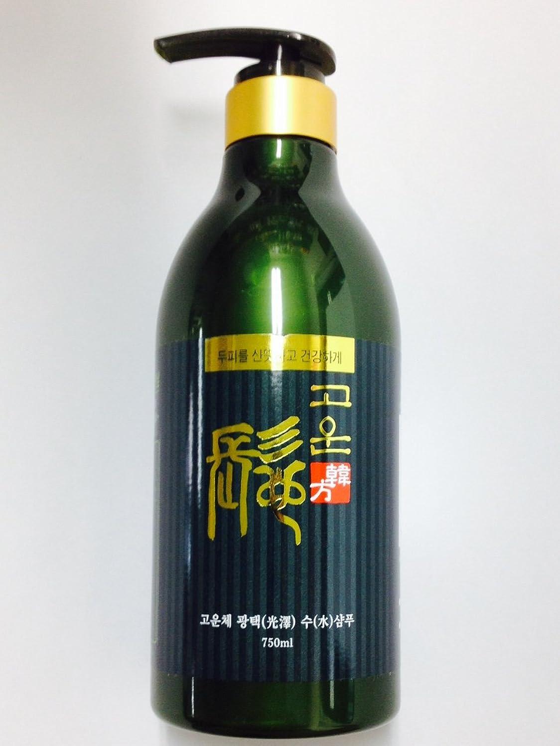 プランター依存する受賞ゴウンチェ オーガニック韓方光沢シャンプー 750ml