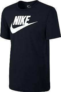 Nike Men's Icon Futura T-Shirt - Black/Black/White, Large