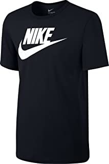 Nike Icon Futura Tee Men's Sport Slim Fit Fitness Cotton Shirt T-Shirt Black/White