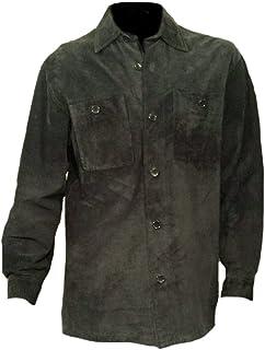 معطف أنيق رجالي من جلد البقر الأسود من Classyak