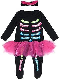 MOMBEBE COSLAND Baby Mädchen Skelett Kostüm Karneval