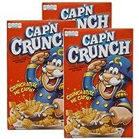Cap'n Crunch キャプテンクランチ コーン&オーツシリアル 3セット [並行輸入品] (Original  3箱)