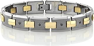 Men's Black Diamond Tungsten Bracelet with Matte Finished Tungsten Links