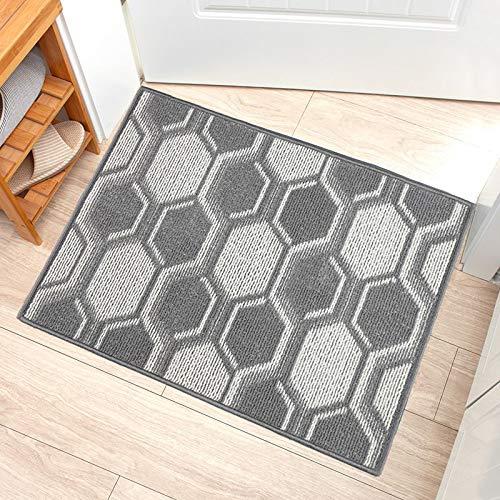 """NA. Indoor, Outdoor Doormat, Non-Slip Rubber Entrance Door Mat, Welcome Entrance Way Rug, Geometric Design, Machine Washable(20""""X32"""", Grey-Ball)"""