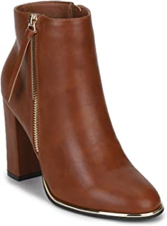 TRUFFLE COLLECTION Women's CALLIE5 Brown PU Boots