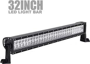 TERRAIN VISION DOT 32 Inch 180W LED Light Bar Spot Flood Combo Beam Offroad LED Lights for Golf Cart Polaria RZR Toyota Tacoma Dodge Ram GMC Chevy Ford F150 ATV Jeep SUV 4X4