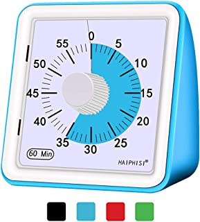60 Minute Visual Analog Timer–Classroom Countdown timer for Kids and Adults,Time Management Tool for Teaching Cooking Homework Meeting Games,No Loud Ticking(Blue)