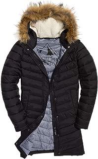 chevron fur super fuji jacket black