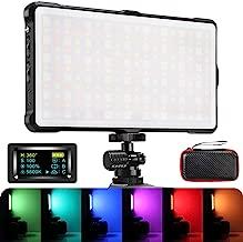 RGB Camera/Camcorder Video Light, Pixel LED Video Light Built-in 4040mAh Battery 360° Full Color 9 Lighting Effect, 3200-5600K CRI≥97 Pocket Size Light with Aluminum Alloy Shell