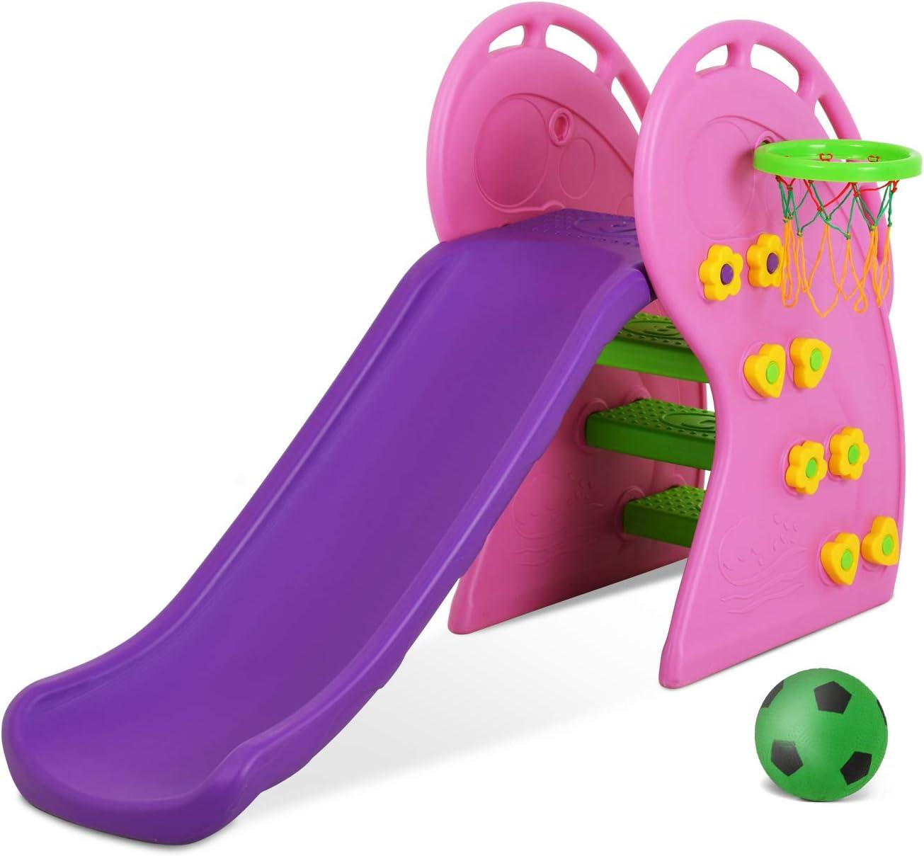 Uenjoy Kids Climber Slide Toddler Indoor and Outdoor Freestandin