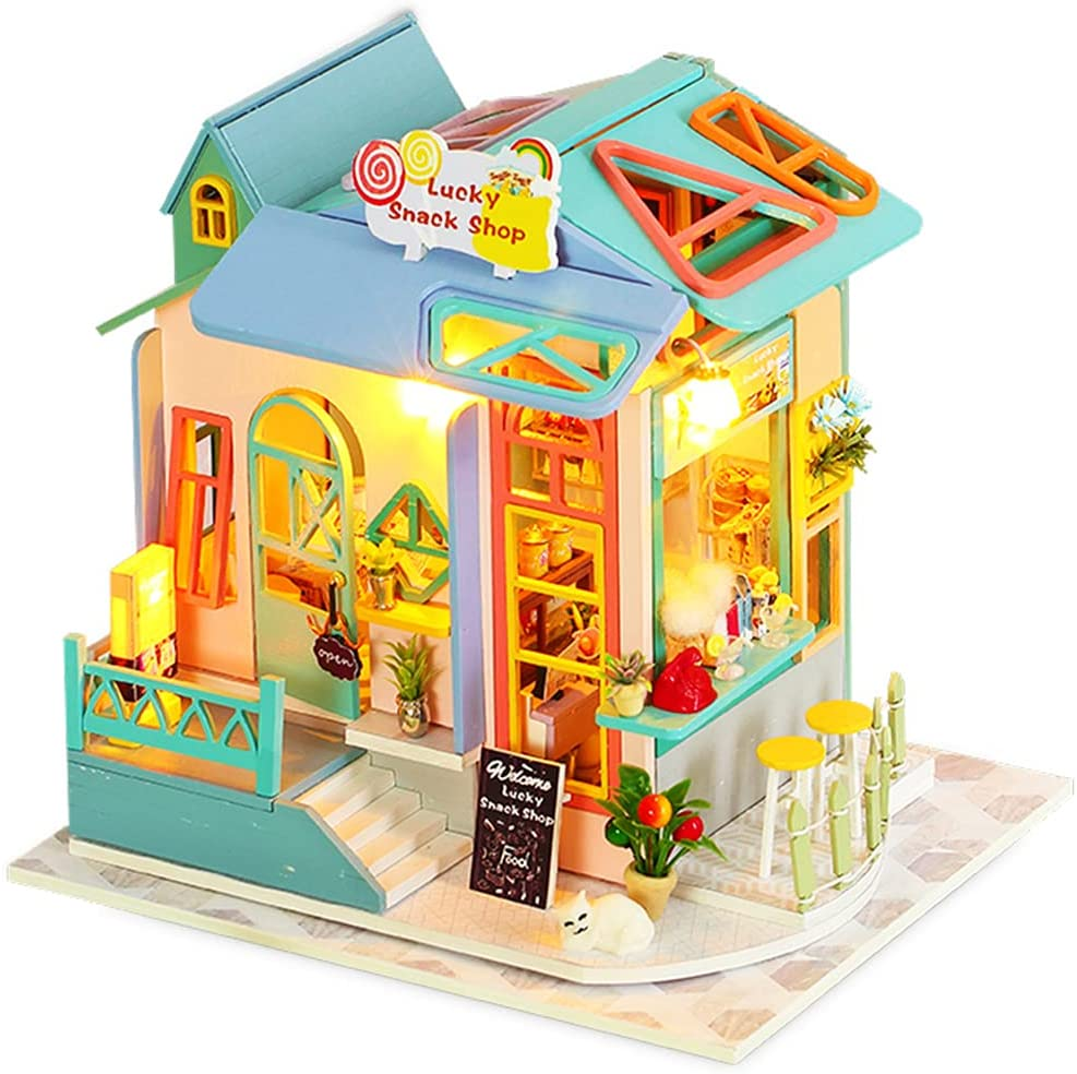 Dollhouse Miniature with Furniture DIY Kit 3D Wooden Fashion House Popular Doll
