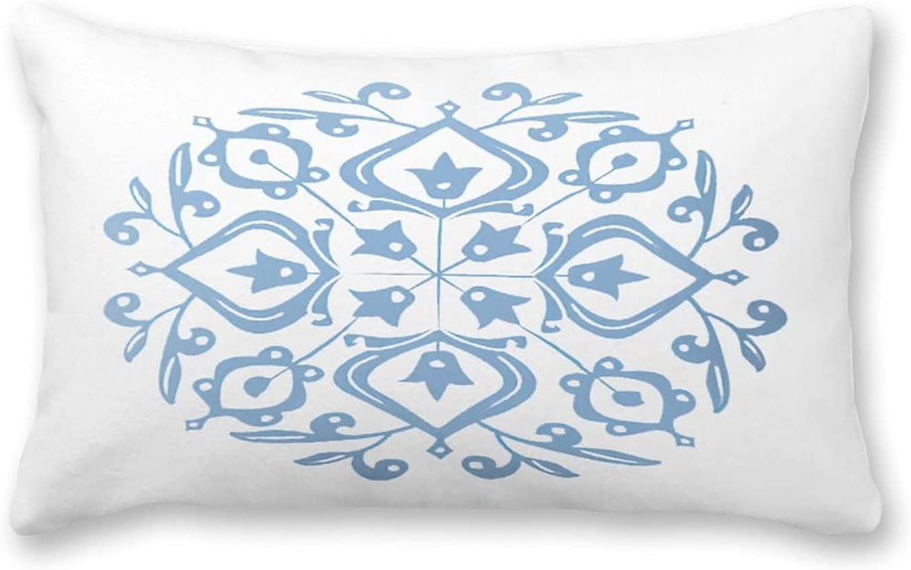 By online shopping Sale special price Unbranded Canvas Pillow Powder Glaze Folk Persian Blue