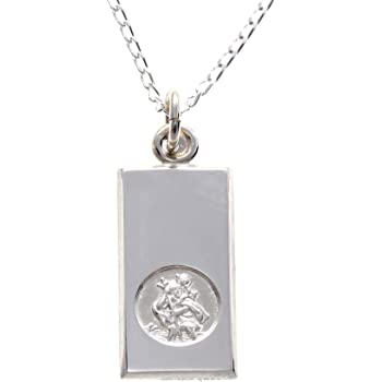 10mm x 18mm Solid 925 Sterling Silver St Christopher Medal